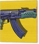 Assault Rifle Pop Art - 20130120 - V2 Wood Print