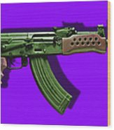 Assault Rifle Pop Art - 20130120 - V4 Wood Print