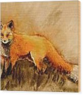 Assessing The Situation Antiqued Wood Print