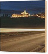 Assisi By Night Wood Print