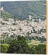 Assisi Italy - Medieval Hilltop City Wood Print