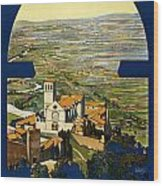 Assisi Italy Wood Print by Georgia Fowler