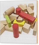 Assorted Building Blocks Wood Print