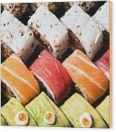 Assortment Of Sushi Wood Print