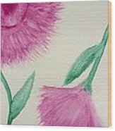 Aster In The Pink Wood Print