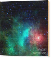 Asteroid Zips By Orion Nebula Wood Print