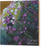 Asters Wood Print by Melody Cleary