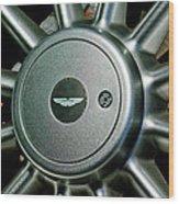 Aston Martin Db7 Wheel Emblem Wood Print