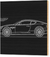 Aston Martin Db9 Phone Case Wood Print
