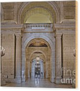 Astor Hall At The New York Public Library Wood Print