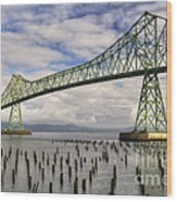 Astoria Bridge Wood Print