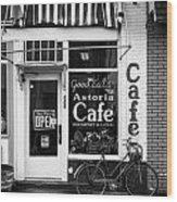 Astoria Cafe Wood Print