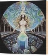Astral Emergence Wood Print by Morgan Mandala Manley