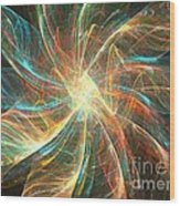 Astral Flower Wood Print