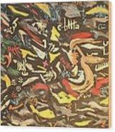 Astratto 1957 Wood Print