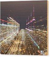 Astro Projection. Festivity Of Warp Speed Travel Wood Print