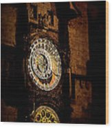 Astronomical Clock Prague Czech Republic Wood Print