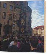 Astronomocal Clock Of Prague II Wood Print