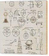 Astronomy Diagrams Wood Print