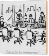 At A Corporate Board Meeting Wood Print