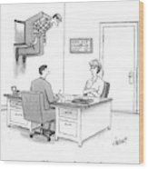 At A Marriage Counselor's Office Wood Print