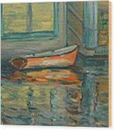 At Boat House 2 Wood Print