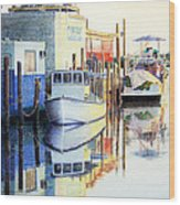 At Cortez Docks Wood Print