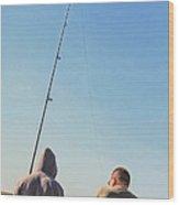 At Fishing Wood Print