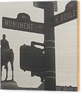 at Monument and Boulevard Wood Print by Nancy Dole McGuigan