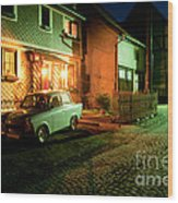At Night In Thuringia Village Germany Wood Print