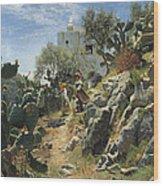 At Noon On A Cactus Plantation In Capri Wood Print