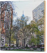 At Rittenhouse Square Wood Print