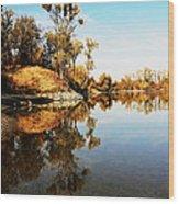 At Rivers Bend Wood Print