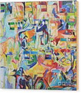at the age of three years Avraham AVine recognized his Creator 5 Wood Print