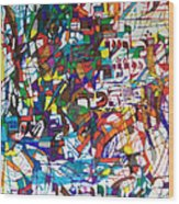 at the age of three years Avraham Avinu recognized his Creator Wood Print