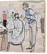 At The Barber And Reading Le Jockey Wood Print