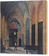 At The Barcelona Cathedral Wood Print