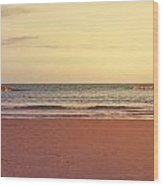 At The Beach Wood Print