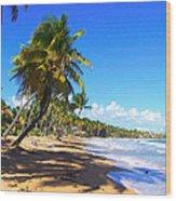 At The Beach Palmas Del Mar Wood Print