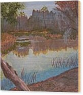 At The Bend On The Ocklawaha  Wood Print