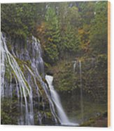 At The Bottom Of Panther Creek Falls Wood Print