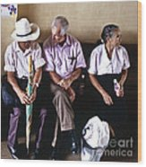 At The Bus Station Wood Print