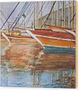 At The Dock Wood Print