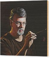At The Easel Self Portrait Wood Print