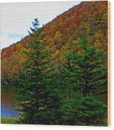 At The Edge Wood Print