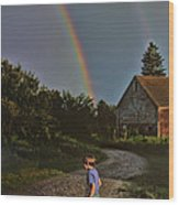 At The End Of A Rainbow Wood Print