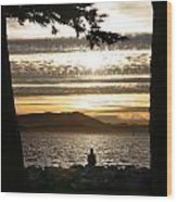 At The End Of The Day Wood Print
