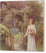 At The Garden Gate Wood Print