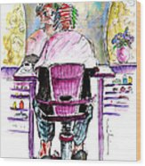 At The Hairdresser Wood Print
