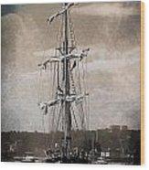 At The Harbor Wood Print